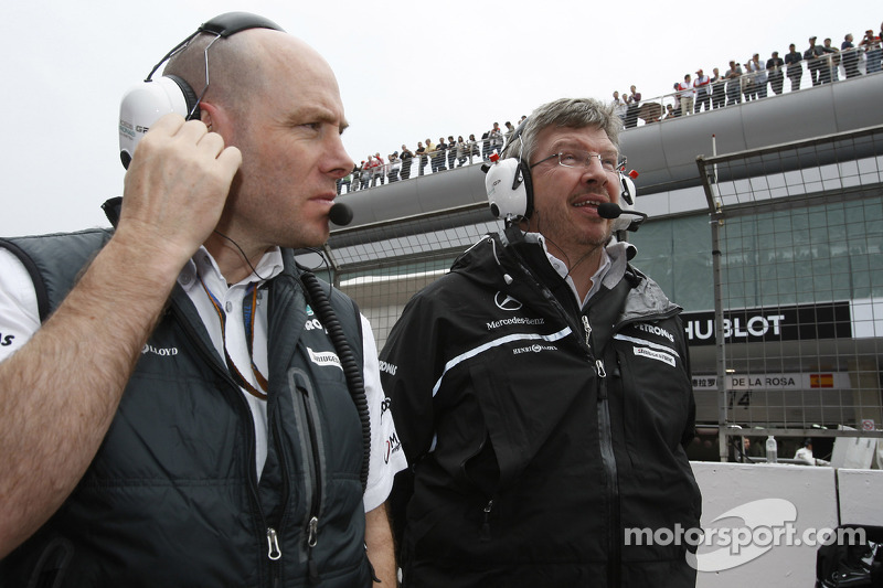 Jock claro, Mercedes GP, Ingeniero de carrera y jefe de equipo Ross Brawn, Mercedes GP