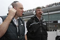Jock Clear, Mercedes GP, Senior Race Engineer and Ross Brawn Team Principal, Mercedes GP