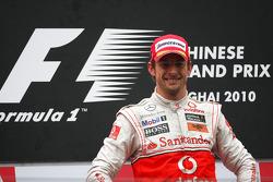 Podium: race winner Jenson Button, McLaren Mercedes