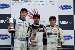 Podium from left: Jolyon Palmer, Phillipp Eng and Johan Jokinen