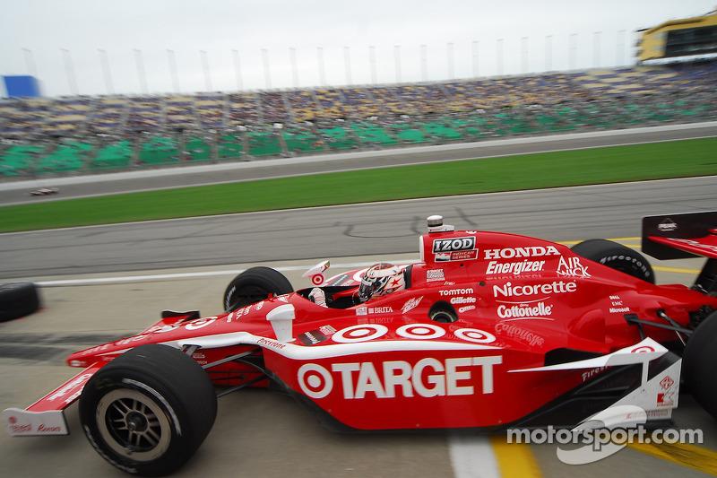 Scott Dixon, Target Chip Ganassi Racing passe par les stands