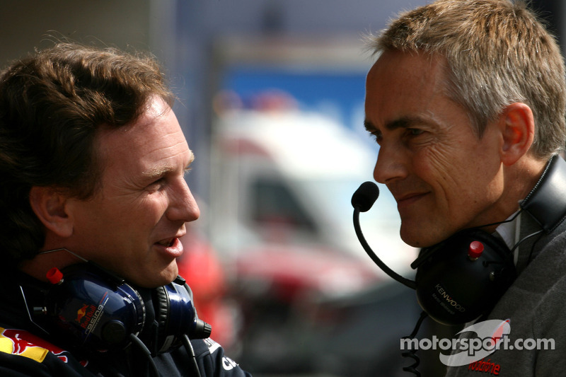 Christian Horner, Red Bull Racing, Sporting Director en Martin Whitmarsh, McLaren, Chief Executive O