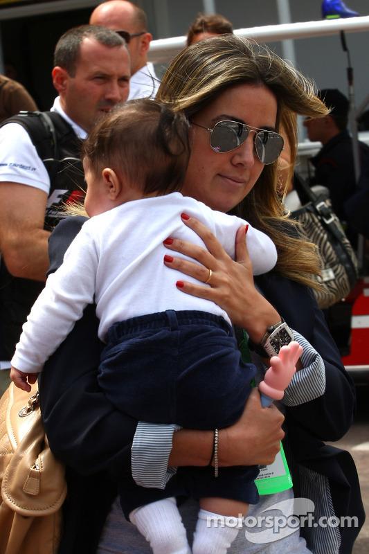 Rafaela Bassi, vrouw van Felipe Massa en zoon Felipinho