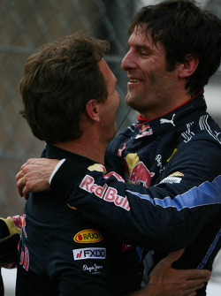 First place Mark Webber, Red Bull Racing and Christian Horner, Red Bull Racing, Sporting Director