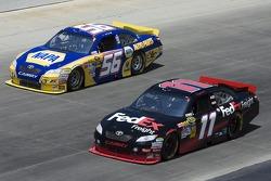 Martin Truex Jr., Michael Waltrip Racing Toyota and Denny Hamlin, Joe Gibbs Racing Toyota