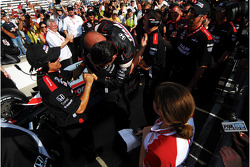 Helio Castroneves, Team Penske takes pole position
