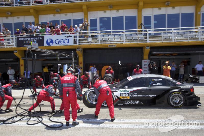 Pitstop Timo Scheider, Audi Sport Team Abt Audi A4 DTM