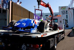 Crash: wagen van James Calado