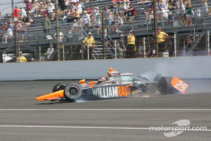 Sebastian Saavedra, Bryan Herta Autosport crash