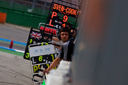 F3 Pit Boards during race