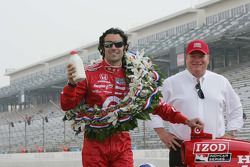 2010 Indianapolis 500 Champion Dario Franchitti, Target Chip Ganassi Racing and Team Owner Chip Ganassi