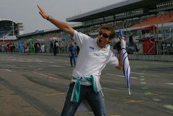 Bruce Jouanny leert te vliegen