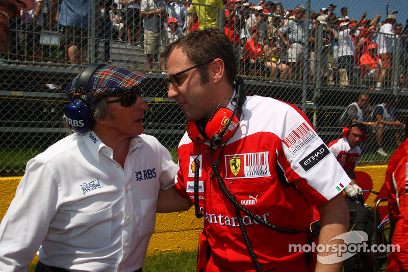 Sir Jackie Stewart met Stefano Domenicali, Ferrari General Director