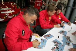 Giancarlo Fisichella, Jean Alesi, Toni Vilander