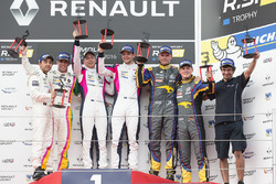 Race 1 podium: winners #3 R-ace GP Racing Renault RS01: Kevin Korjus, Fredrik Blomstedt, peringkat kedua #4 Oregon Team Renault RS01: Team Bruno Bonifacio, Andrテゥs Mendez, peringkat ketiga #9 Team Marc VDS Renault RS01: Markus Palttala, Fabian Schiller