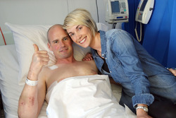 Ryan Farquhar con la moglie Karen Farquhar