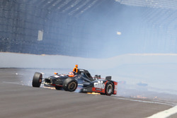 Crash: Alex Tagliani, A.J. Foyt Enterprises Honda