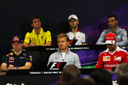 The FIA Press Conference: Jolyon Palmer, Renault Sport F1 Team, Romain Grosjean, Haas F1 Team, Pascal Wehrlein, Manor Racing, Max Verstappen, Red Bull Racing, Nico Rosberg, Mercedes AMG F1, Sebastian Vettel, Ferrari