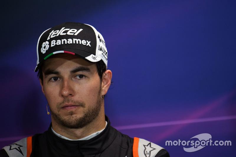 Sergio Perez, Sahara Force India F1 en la Conferencia de prensa FIA