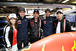 Max Verstappen, Red Bull Racing, Daniel Ricciardo, Red Bull Racing, Chinese singer, G.E.M., Chinese actor, Li Yifeng, and Patrick Dempsey, actor