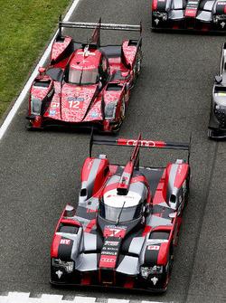 La tradicional toma de la foto oficial Le Mans