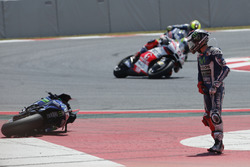 Jorge Lorenzo, Yamaha Factory Racing, Crash