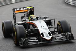 Sergio Pérez, Sahara Force India F1 VJM09 celebra su tercer puesto en el final de la carrera