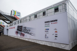 Porsche Team paddock area