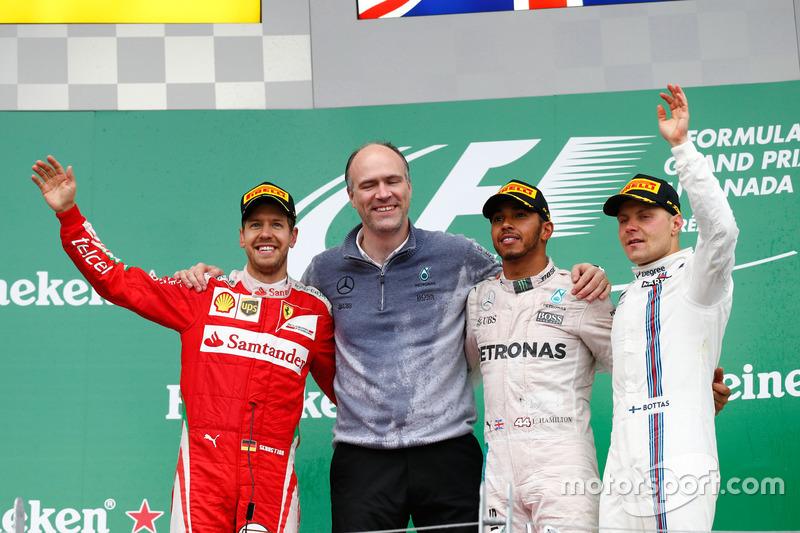 Canadá 2016 es su último podio con Williams, el noveno de su carrera.