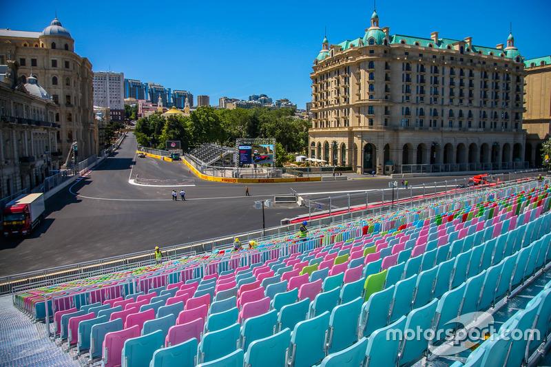 Baku, la curva 16 del circuito cittadino