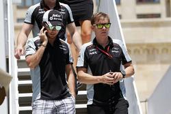 Sergio Perez, Sahara Force India F1, mit Fitnesstrainer Xavi Martos, Sahara Force India F1 Team