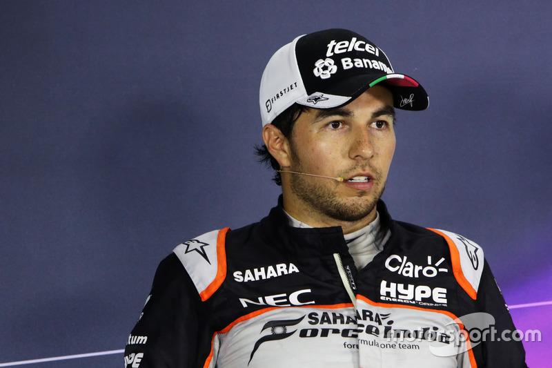 Серхіо Перес, Sahara Force India F1 під час прес-конференції FIA після кваліфікації