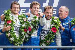 LMP2 podium: class winners #36 Signatech Alpine A460: Gustavo Menezes, Nicolas Lapierre, Stéphane Richelmi with team owner Philippe Sinault