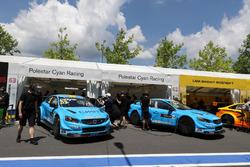 Robert Dahlgren, Polestar Cyan Racing, Volvo S60 Polestar TC1 y Thed Björk, Polestar Cyan Racing, Volvo S60 Polestar TC1