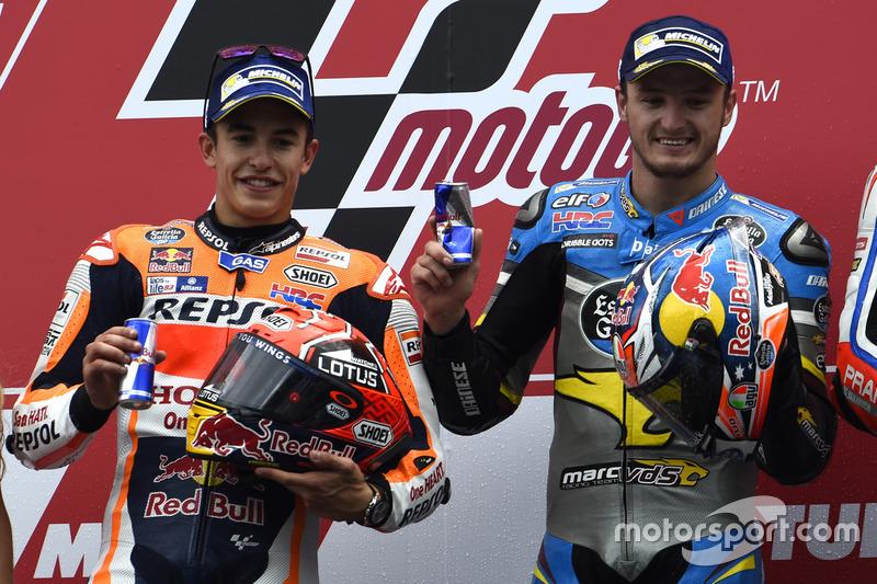Podium: ganador, Jack Miller, Marc VDS Racing Honda, segundo, Marc Márquez, Repsol Honda Team