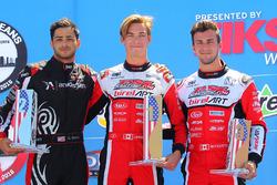 Rotax DD2 podium, Dev Gore, Jeff Kingsley dan Alessandro Bizzotto