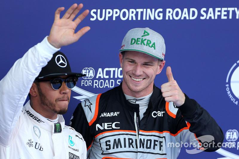 Lewis Hamilton y Nico Hulkenberg