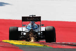 Felipe Massa, Williams FW38 sends sparks flying