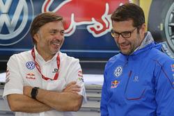 Jost Capito, Volkswagen Motorsport Director and Francois-Xavier Demaison