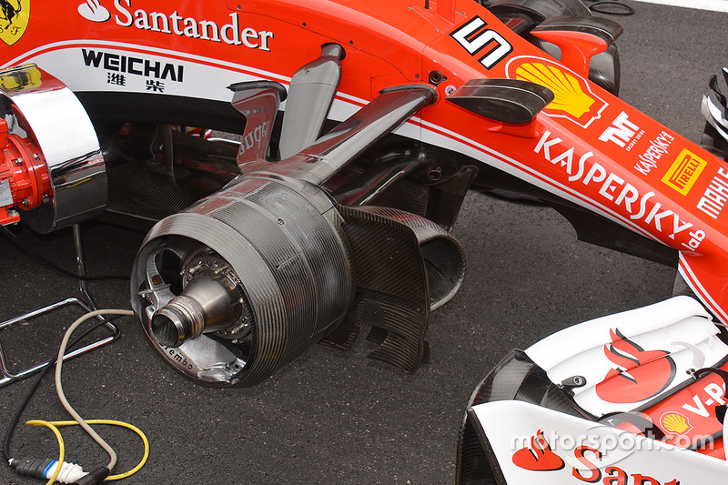 Les freins avant de la Ferrari
