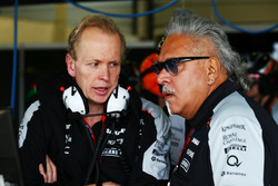 (L to R): Andrew Green, Sahara Force India F1 Team Technical Director with Dr. Vijay Mallya, Sahara Force India F1 Team Owner