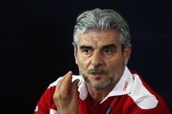 Maurizio Arrivabene, Team Principal Ferrari nella conferenza stampa FIA