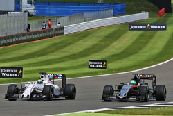 Felipe Massa Williams FW38 and Nico Hulkenberg, Sahara Force India F1 VJM09 battle for position