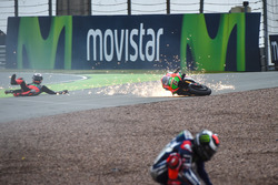 Аварія Штефана Брадля, Aprilia Racing Team Gresini та Хорхе Лоренсо, Yamaha Factory Racing
