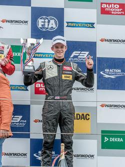 Podium, Callum Ilott, Van Amersfoort Racing Dallara F312 - Mercedes-Benz