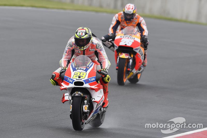 Andrea Iannone, Ducati Team y Marc Márquez, Repsol Honda Team