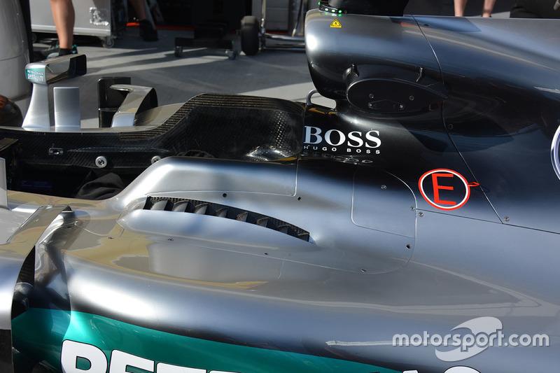 Mercedes AMG F1 W07 Hybrid cockpit detail
