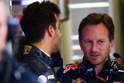 Daniel Ricciardo, Red Bull Racing, mit Christian Horner, Red Bull Racing, Teamchef