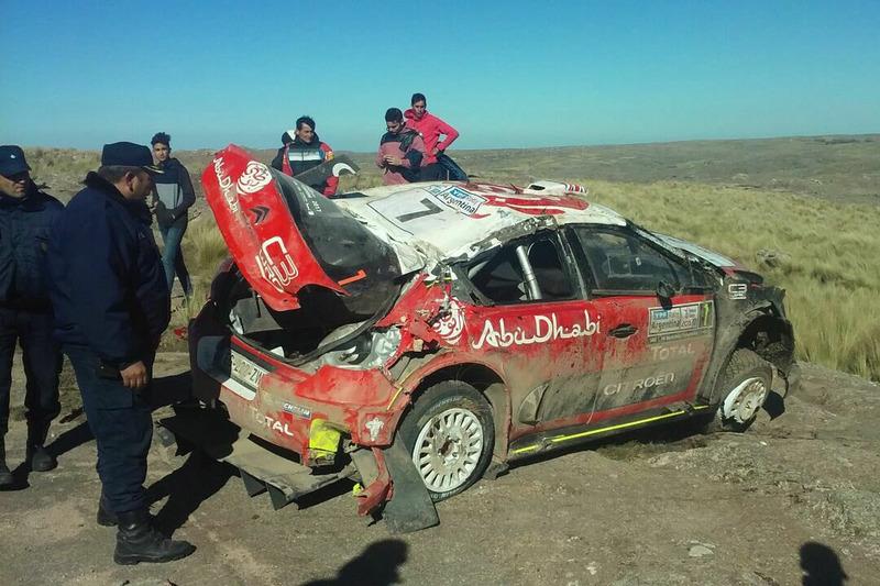 Разбитый Citroën C3 WRC Криса Мика и Пола Нейгла