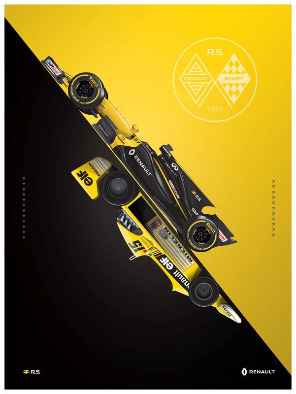 Постер в честь 40-летия Renault в Ф1